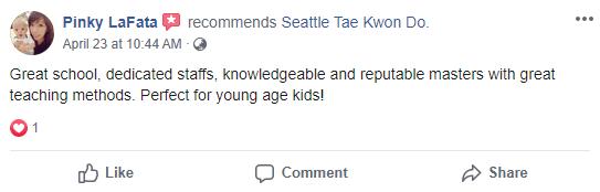 Kids 1, Seattle Tae Kwon Do