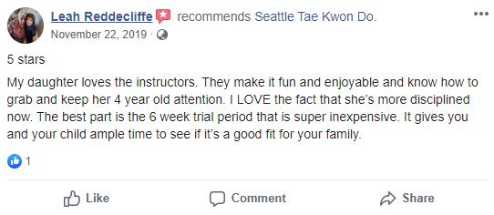 Kids 3, Seattle Tae Kwon Do